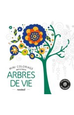 MINI COLORIAGE ANTISTRESS ARBRES DE VIE